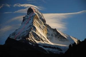 Edmond Joyeusaz, Alpi, Sci, Cervino