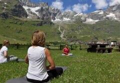 outdoor festival, outdoor, yoga, cervinia