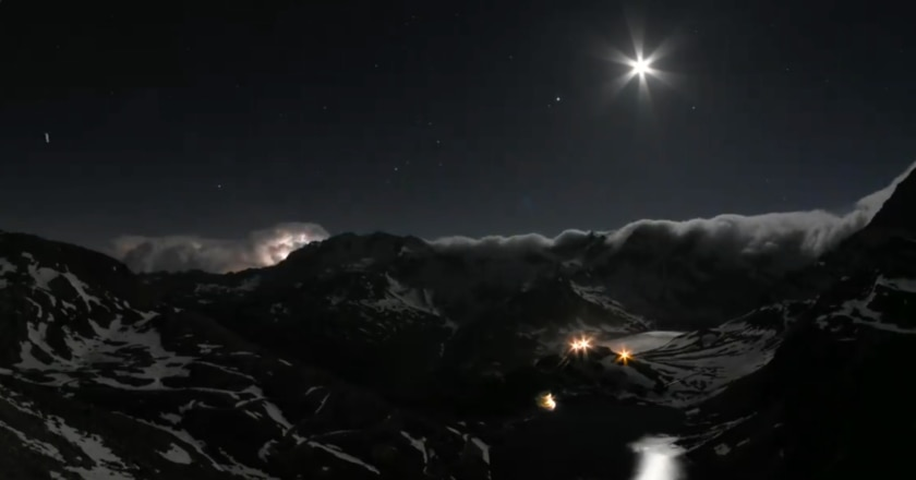 timpelapse, video, parco gran paradiso