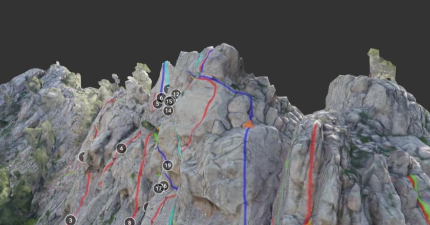 Climb assist, climbing, arrampicata, mappe 3D