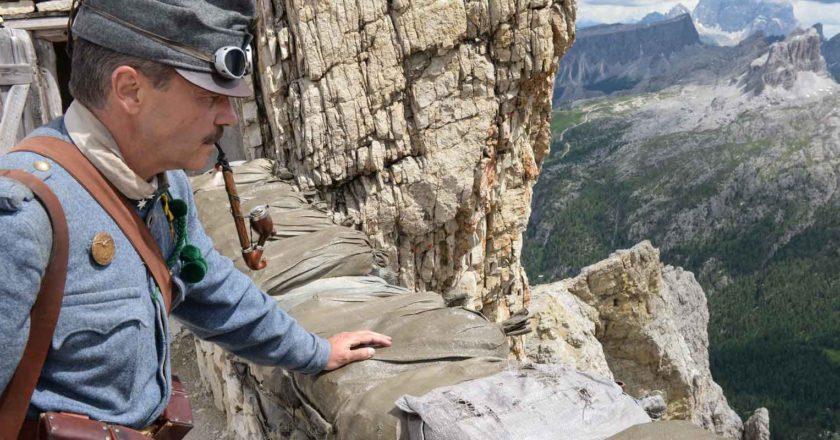 Lagazuoi Dolomiti, Grande Guerra, Prima Guerra Mondiale, La montagna che esplode