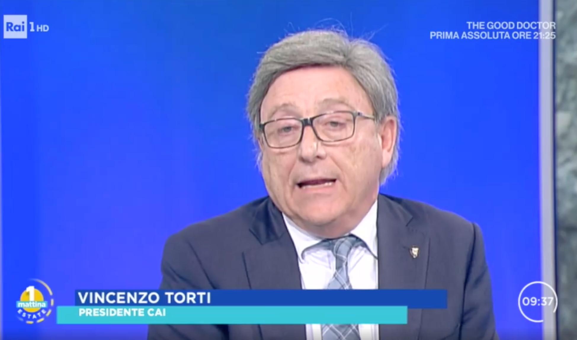 Photo of La montagna come valore, il Presidente del CAI Vincenzo Torti a Uno Mattina su Rai1