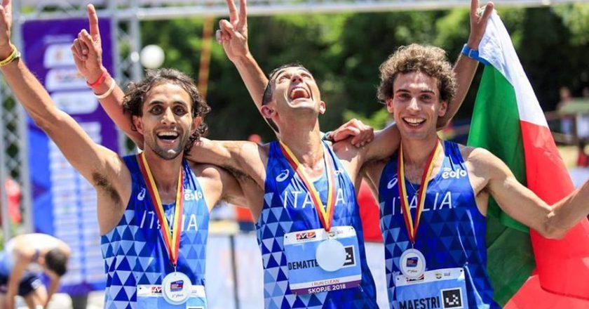 Europei di corsa in montagna, Gemelli Dematteis, Cesare Maestri, Tripletta