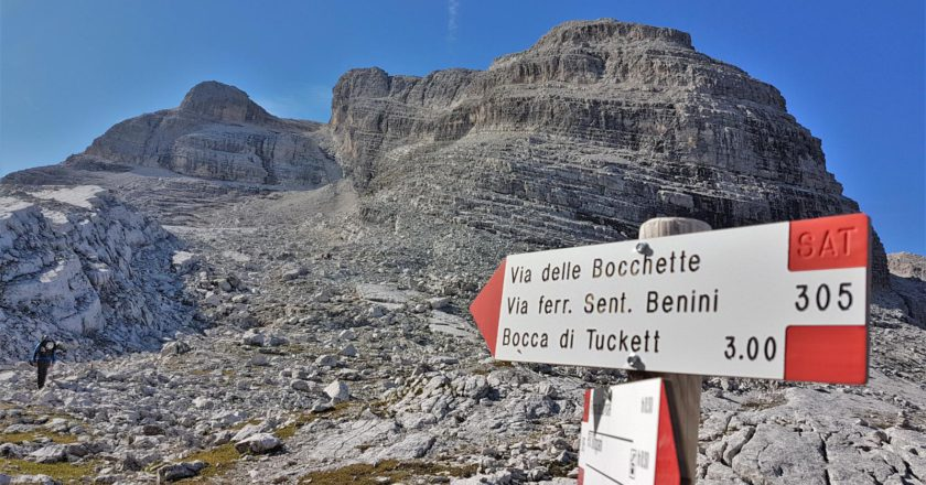 ferrate, itinerari, Bocchette Alte, Dolomiti,