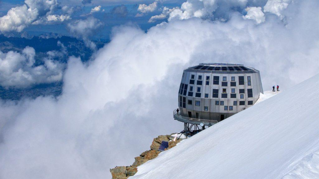 monte bianco, rifugio router, chamonix, alpinismo