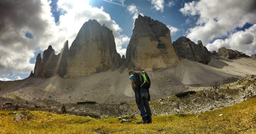 alpinismo, base jump, Tre Cime di Lavaredo