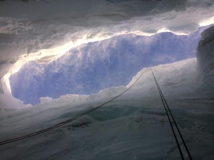 Photo of Sul Plateau Rosà per visitare un crepaccio dal suo interno