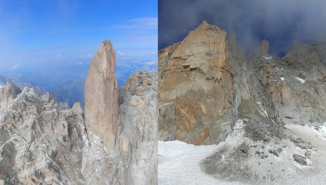 Photo of Monte Bianco, crolla l'Arête des Cosmiques