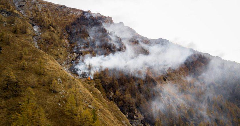 Val Susa, incendi, frane