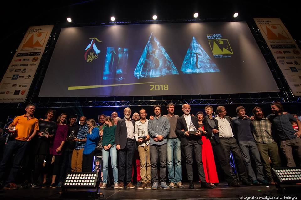 Piolets d'Or 2018, Ladek Mountain Festival, Andrej Štremfelj, gasherbrum, nuptse, oscar dell'alpinismo, Shispare