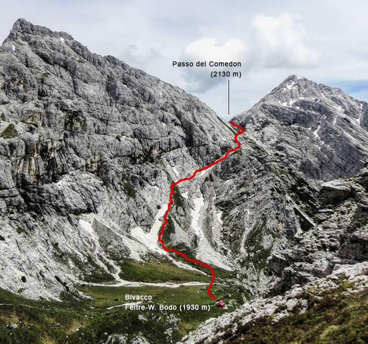 Photo of Alta Valle del Mis e Feltrino insieme sul Passo del Comedón (2.130 m)