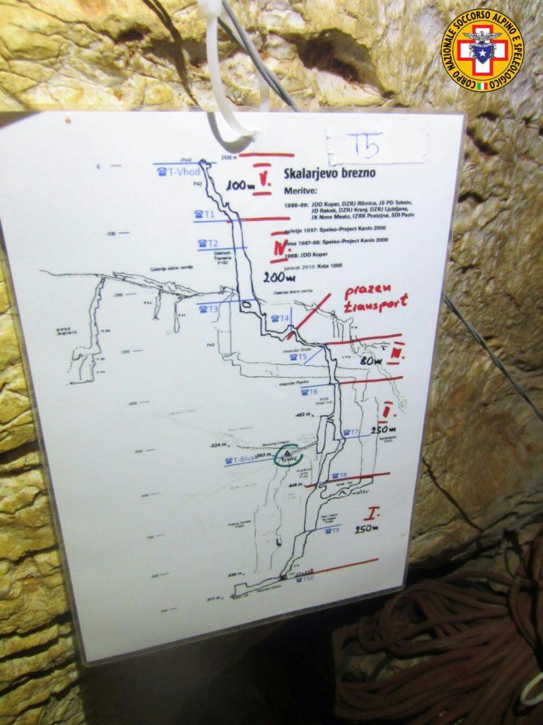 CNSAS, Soccorso alpino e speleologico, esercitazione in grotta, record di profondità