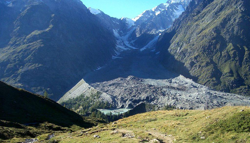 Ghiacciaio Miage, cronaca, Monte Bianco