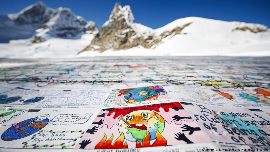 climate change, cartolina, Aletsch, Svizzera, COP24, ghiacciai, cambiamento climatico, surriscaldamento globale