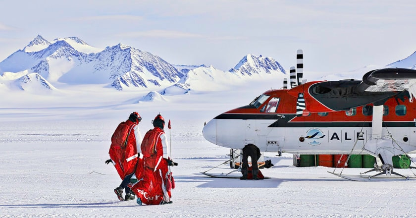 Heather Swan, skydiving, tuta alare, Antartide