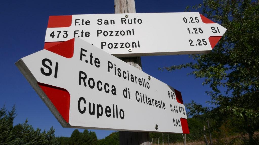 sentiero italia, itinerari