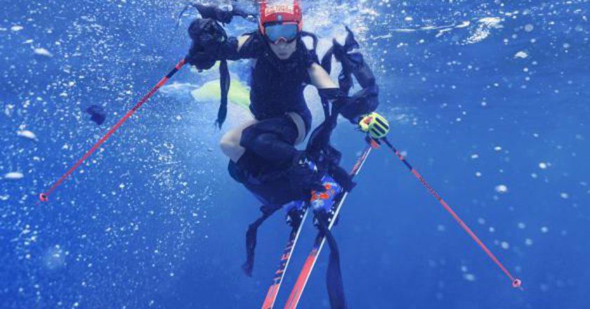 Federica Brignone, sci, slalom gigante, traiettorie liquide, ecologia, denuncia, tutela, fotografia