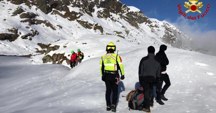 escursionisti, salvataggio, soccorso alpino, vigili del fuoco, valle strona, Malpensa