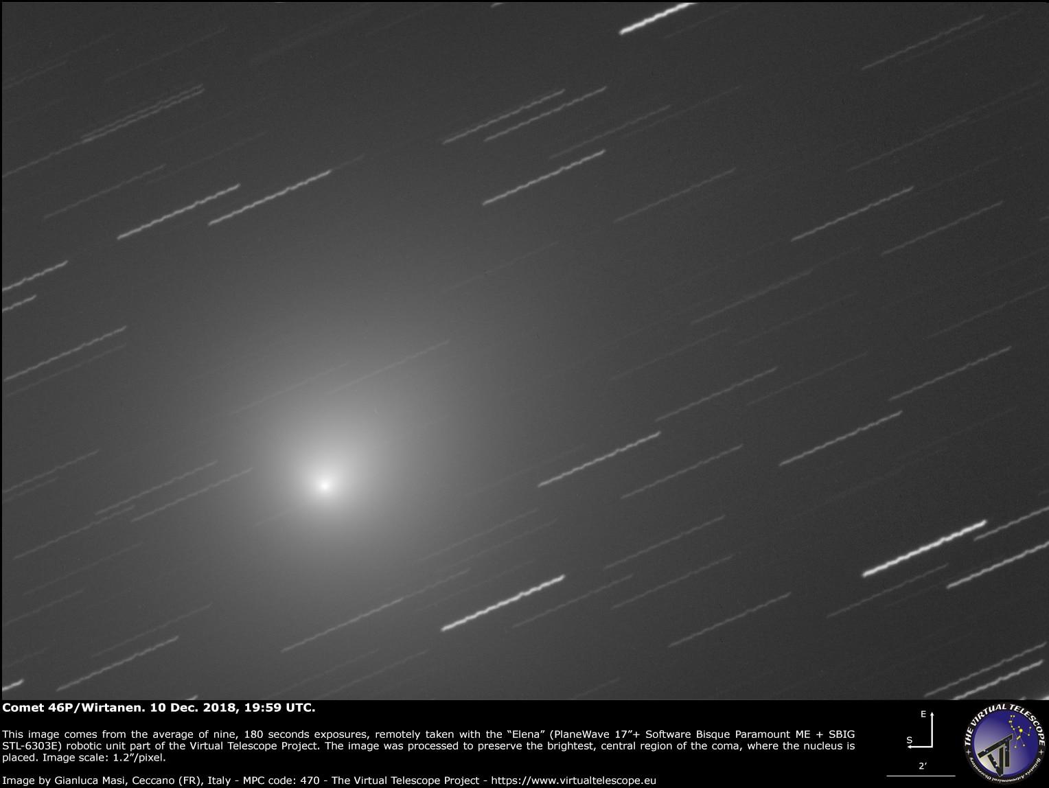 Photo of Occhi al cielo, è arrivata la cometa del Natale 2018