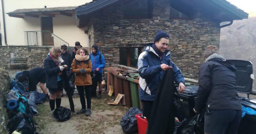 Monteviasco, boyscout, funivia, solidarietà, rifiuti, Lombardia