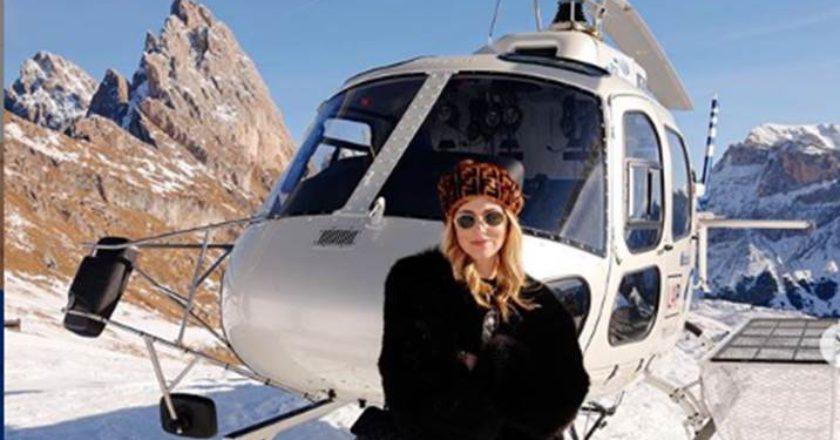 Chiara Ferragni, Fedez, Ferragnez, Alpe di Siusi, elicottero, Instagram, fashion blogger