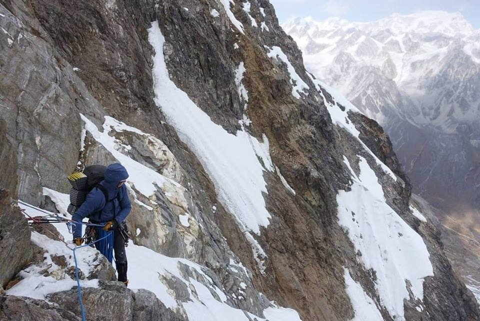 Sharpu II, Nepal, Kangchenjunga, Spencer Gray, Aivaras Sajus