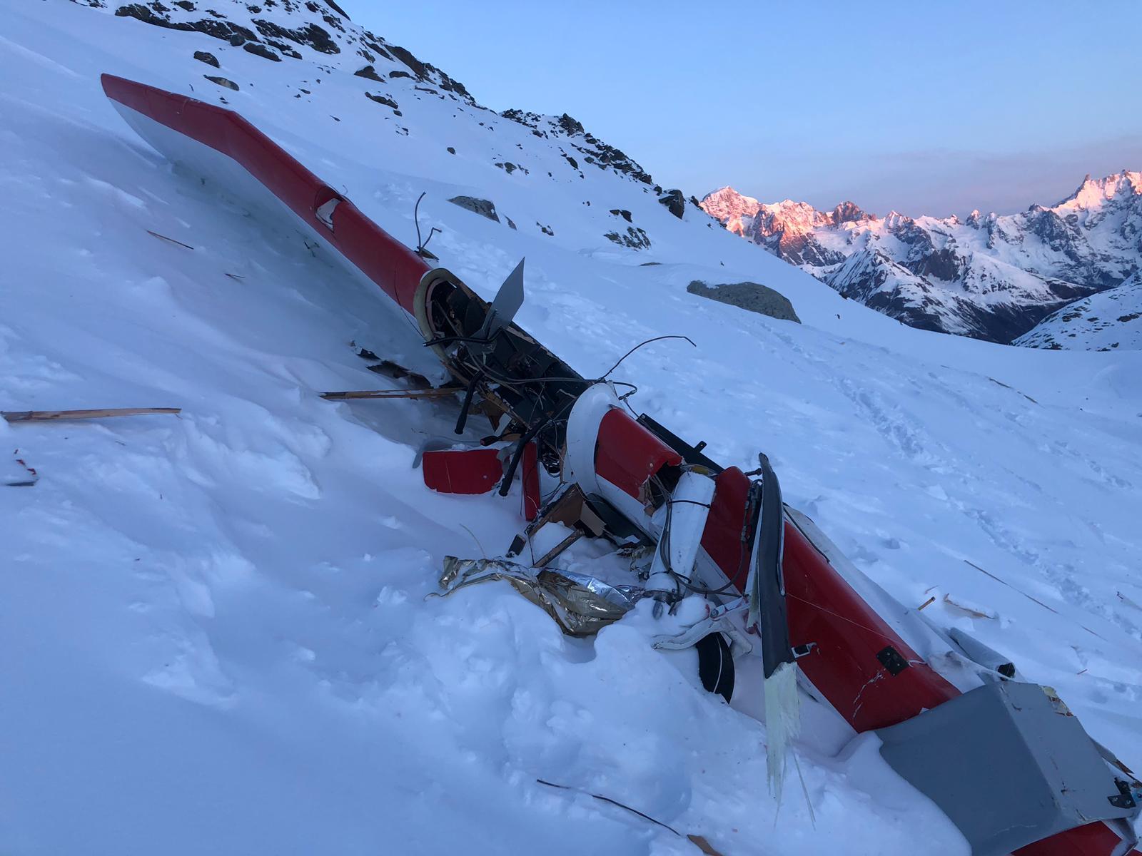 aereo, incidente aereo, ghiacciaio rutor