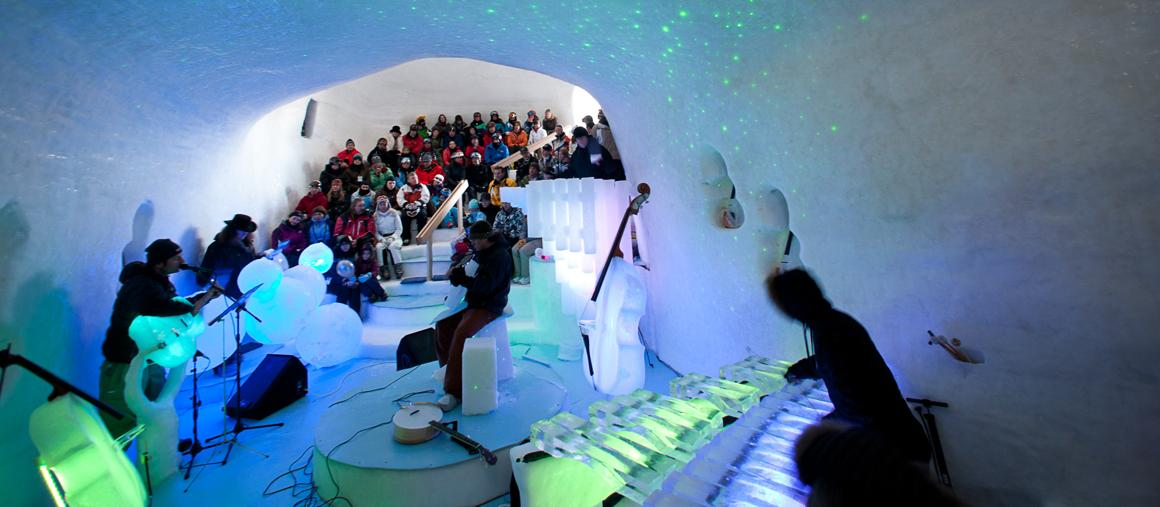 Photo of Ice music Festival. Concerti in un igloo sul Presena con strumenti di ghiaccio