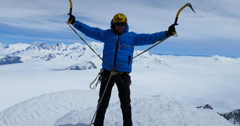 François Cazzanelli, Sergio Cirio, Monte Vinson, Antartide, vetta