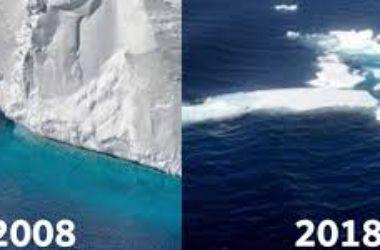 TenYearsChallenge, social network, Tweeter, ghiacciai, climate change, fake news