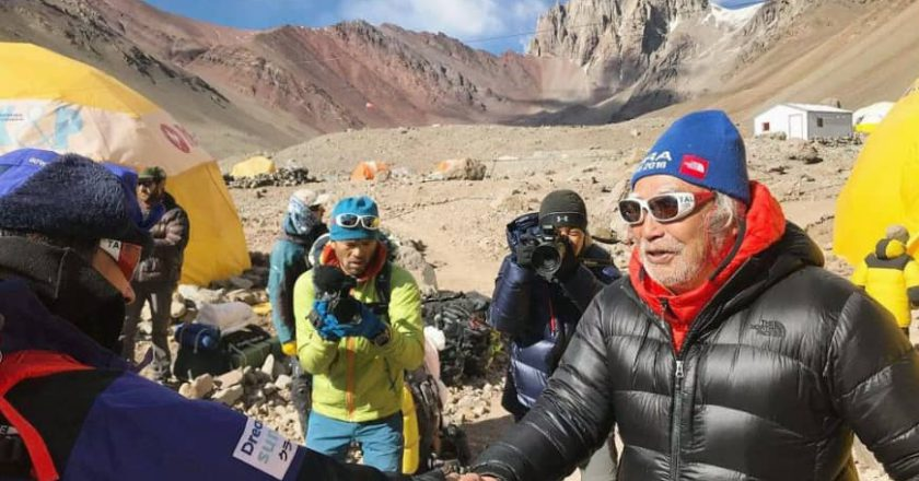 Yuichiro Miura, alpinismo, Aconcagua, Sud America, record, Everest