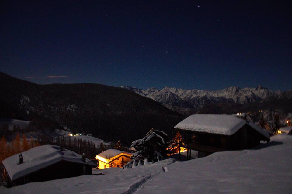 Chamois di notte. Foto Antoine Casarotto