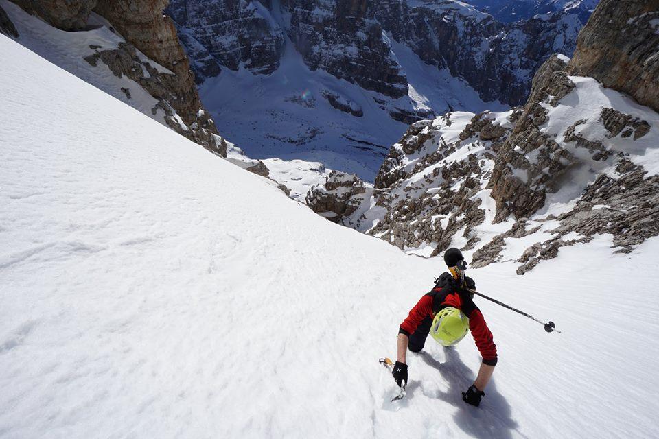 Luca Dallavalle, Roberto Dallavalle, Cima Mandron, Dolomiti, sci ripido