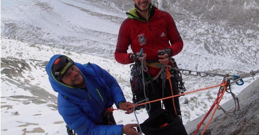 Matteo Pasquetto e Matteo Della Bordella in un attimo di pausa
