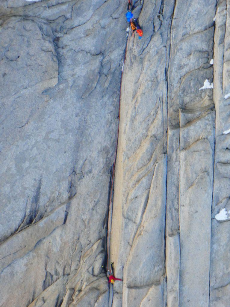 In scalata sul Mocho. Foto archivio Della Bordella