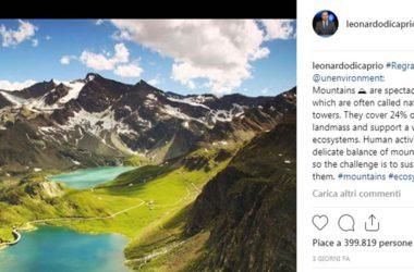 Leonardo Di Caprio, Colle del Nivolet, Piemonte, Valle d'Aosta, Gran Paradiso, Hollywood, turismo ecosostenibile