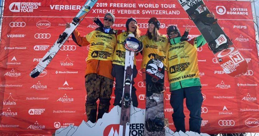 xtreme verbier, freeride wolrd tour, freeride, snowboard, Markus Eder, Arianna Tricomi