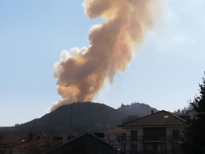 incendi, piemonte, boschi, belmonte, cuorgnè, canavese