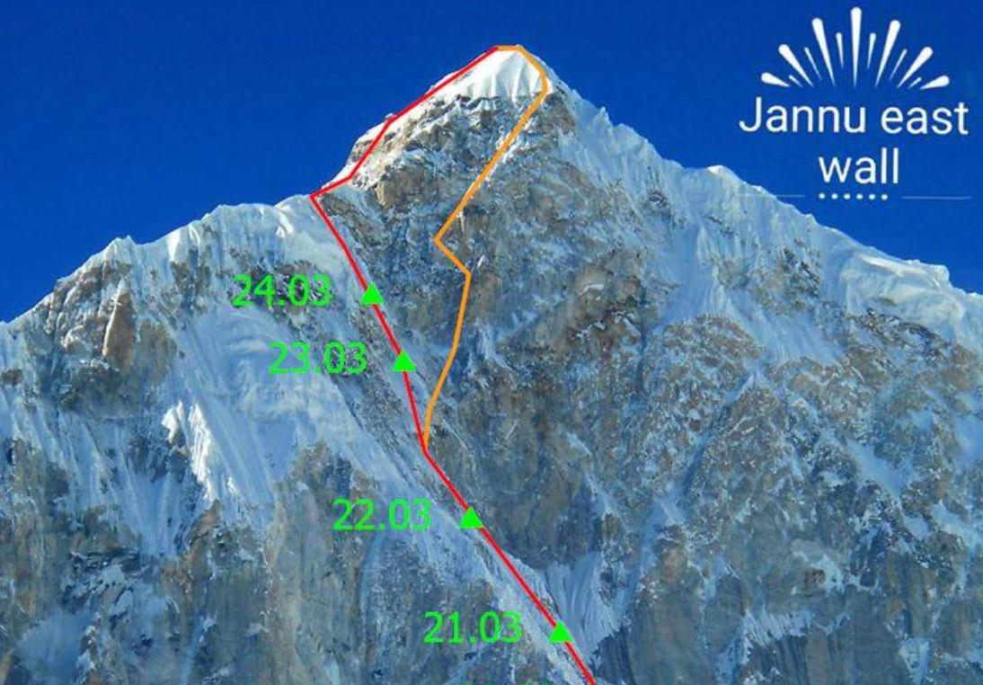 Photo of Raggiunta quota 7230 m sul Jannu East. La vetta è sempre più vicina