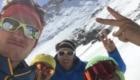 Selfie di fine discesa, dopo la Nord della Grande Casse in condizioni strepitose