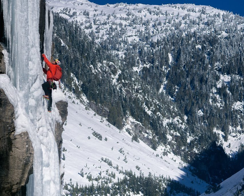 Will Gadd, Chris Jensen, Peter Hoang, Della Falls, Canada, iceclimber