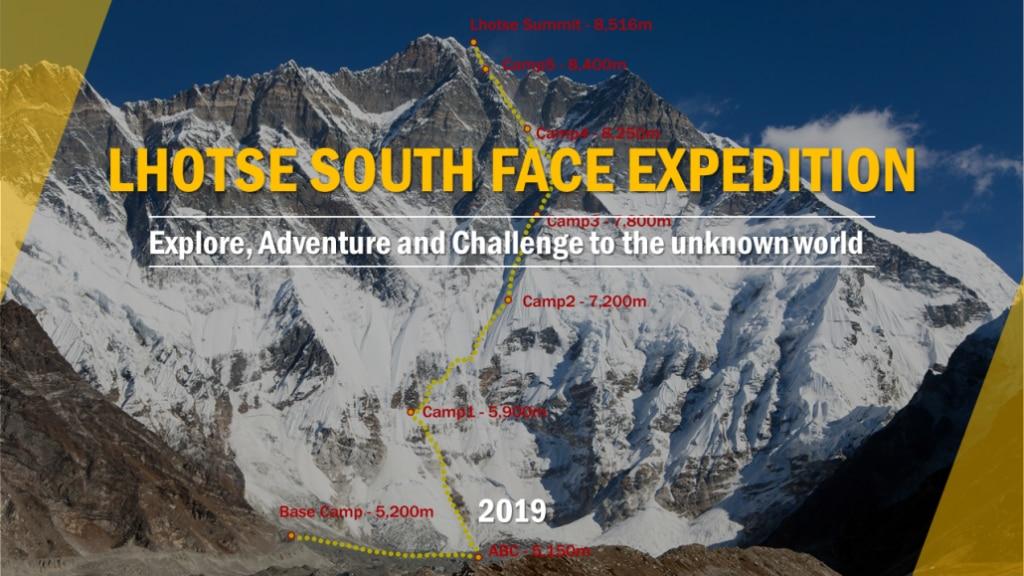 lhotse, parete sud lhotse, alpinismo, himalaya