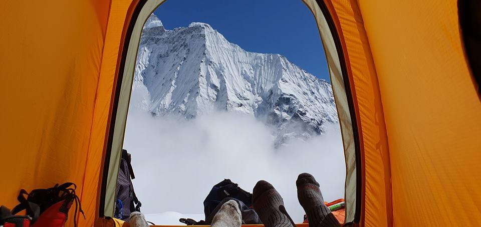 Adam Bielecki, Felix Berg, Annapurna, Langtang Lirung, acclimatamento