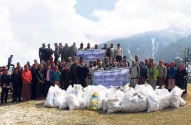 Sagarmatha, Everest, pulizie, nepal,rifiuti