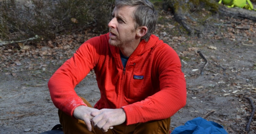 Tommy Caldwell a Fontainebleau. Foto Gian Luca Gasca