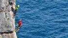 Daniele e Claudio Nardi in arrampicata a Gaeta - Foto Stefano Ardito