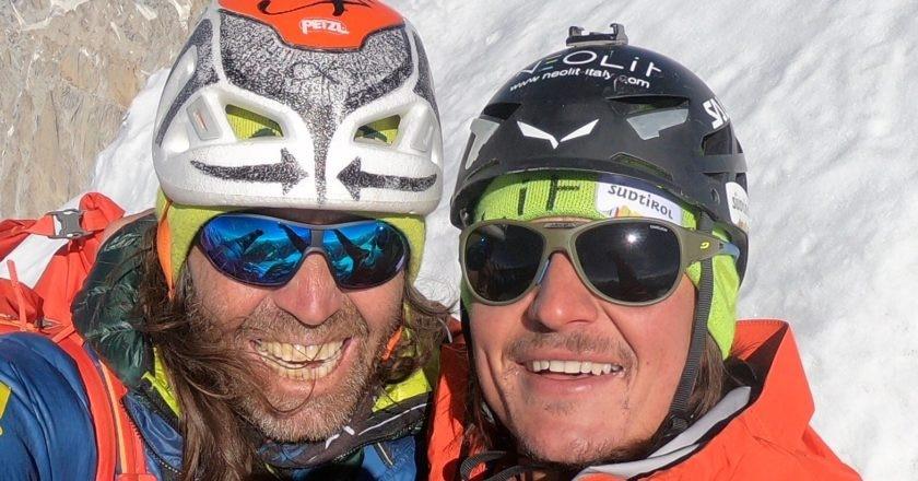 Alexander Huber e Simon Gietl. Foto archivio Simon Gietl
