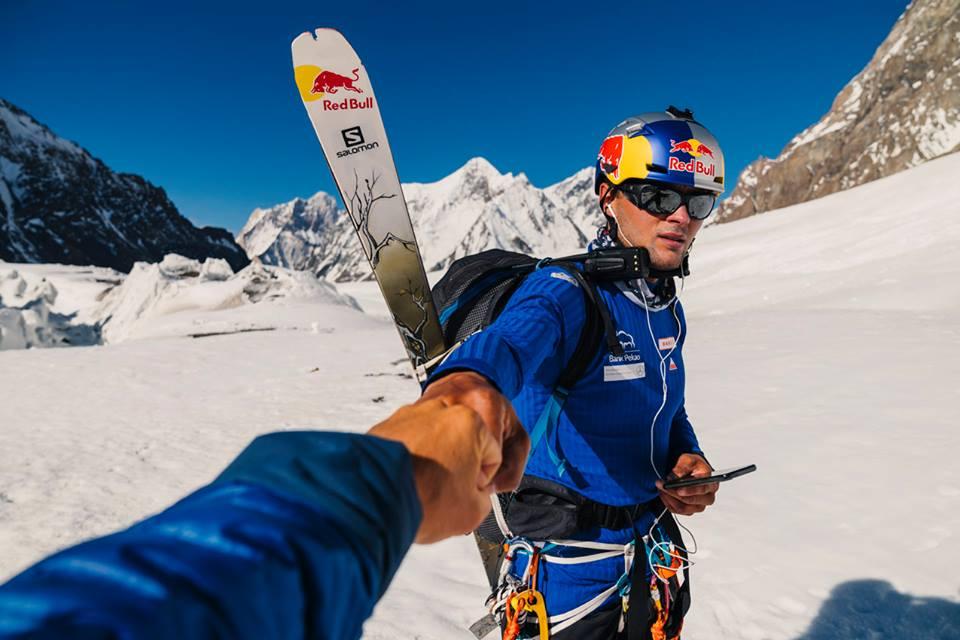 Andrzej Bargiel in partenza per campo 1 sul K2. Foto Andrzej Bargiel Facebook