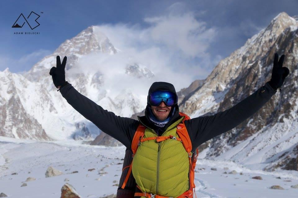 Adam Bielecki sul Baltoro, al campo Concordia. Foto Adam Bielecki Fcebook