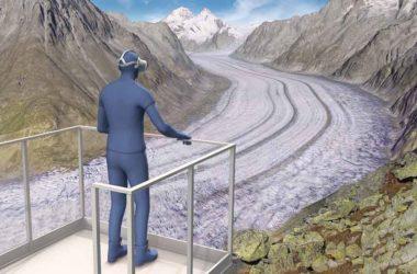 Alpi, cambiamento climatico, ghiacciaio dell'Aletsch, realtà virtuale, tour interattivo, Zernez